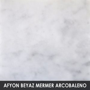 Afyon Beyaz Mermer Arcobaleno